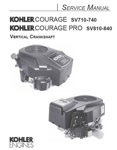 Kohler Engine Repair Parts : Kohler couage sv service manual tp a
