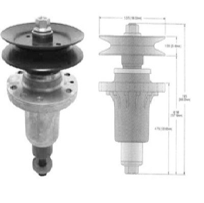 13003 SPINDLE ASSEMBLY Replaces EXMARK 103-1105