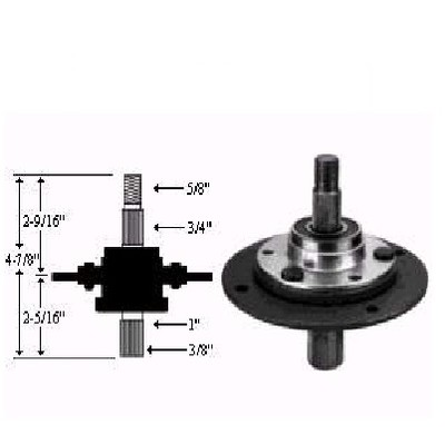 8967 Short Spindle Assembly Replaces MTD 717-0912, 917-0912