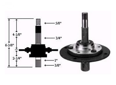 8968 Long Spindle Assembly Replaces MTD 717-0913, 917-0913