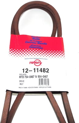 Free Shipping! 11482 Primary Drive Belt Compatible With MTD 954-0467 Toro 112-0301