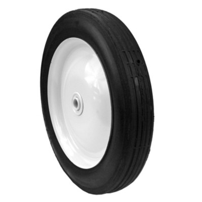 12484 STEEL WHEEL 10 X 1.75 (PAINTED WHITE)