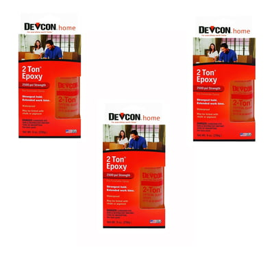 Free Shipping! 3 Pack Devcon 33345 S-33 2 Ton Crystal Clear Epoxy