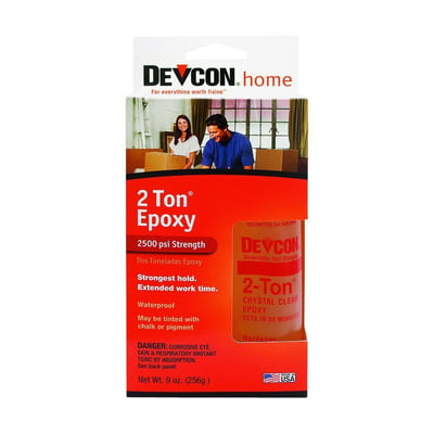 Free Shipping! Devcon 33345 S-33 2 Ton Crystal Clear Epoxy
