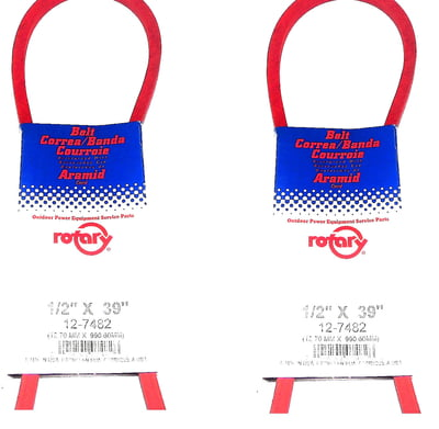 Free Shipping! 2Pk 7482 Belts Compatible With Toro 3-8445, 63-2961, 7-1164, 7-3148, 9461, Ariens 72192 , 07200431, 72130, 07213000 & More..