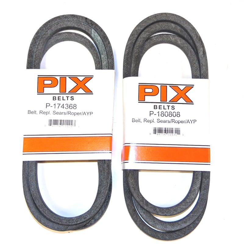 """532174368-2 Pack Husqvarna 174368 Belt for Craftsman Poulan 5//8/""""x90/"""""""
