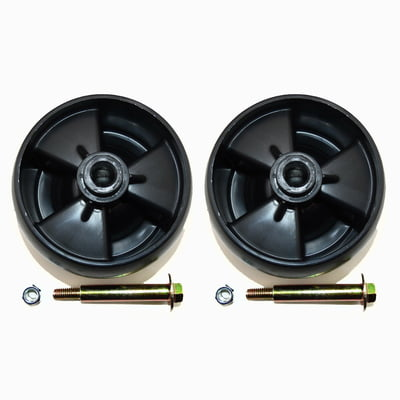 Free Shipping! 2 PK Deck Wheels W/ Nuts & Bolts Compatible With MTD 734-04155 Toro 112-0677