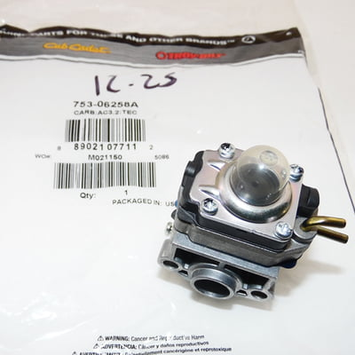 Free Shipping! Genuine MTD 753-06258A 3.1 Ac Carburetor