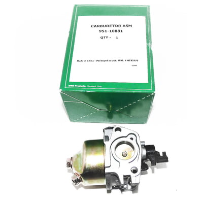 Free Shipping! New 951-10881 Original MTD Carburetor; Replaces 751-10881.