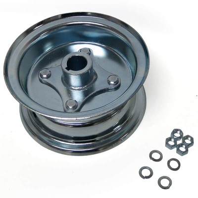 "az1034 Go Kart 6"" Wheel 3-1/2"" Wide Live Axle Rim Assy"