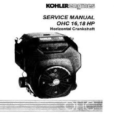 TP-2480 Kohler Engine Service Manual TH16 and TH18