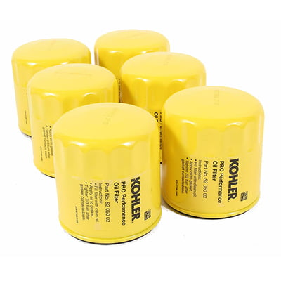 Free Shipping! 6 Pack Of Kohler 52 050 02-S Pro Performance Oil Filters