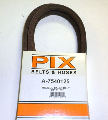 PIX754-0125 Belt Replaces 754-0125 MTD Belt