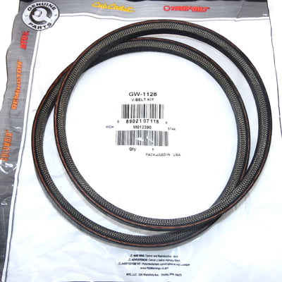 Free Shipping! 2PK OEM MTD GW-1128 Troy Bilt Horse Tiller Belt Compatible With 1108455,1705033