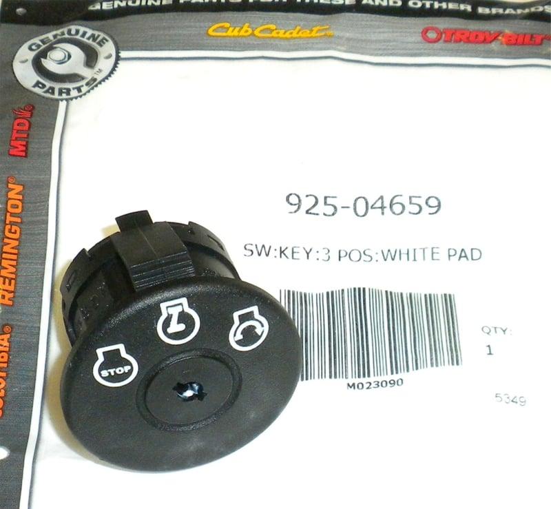 Troy Bilt Lawn Mower Parts >> Genuine 925-04659 MTD Ignition Switch